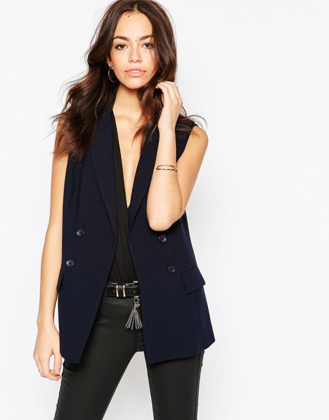 New look double breasted sleeveless blazer